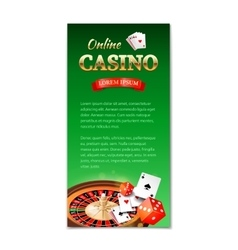 Casino background vertical banner flyer vector image
