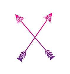 color silhouette arrows native object with vector image vector image
