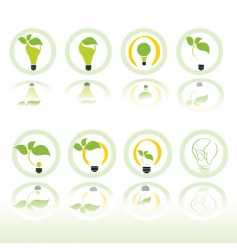 echo light icons vector image vector image