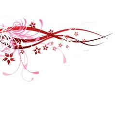 floral design element vector image