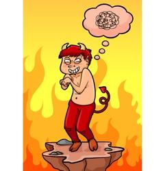 cartoon devil vector image