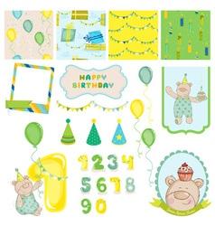 Design Elements - Birthday Baby Bear vector image vector image