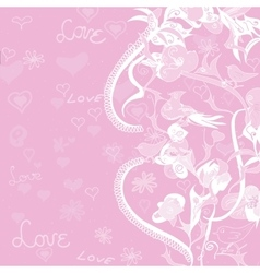 Love And Flowers Background vector image vector image