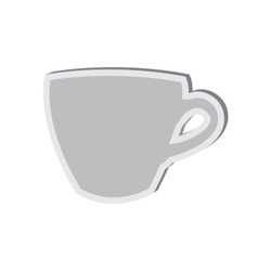 Sticky icon of cup isolated on white background vector image vector image