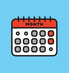 calendar web icon office organizer business vector image