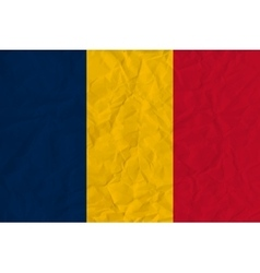 Chad paper flag vector image vector image