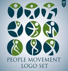 PEOPLE MOVEMENT LOGO SET 1 vector image