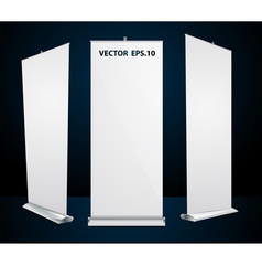 roll up banner exhibition display vector image