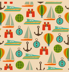 travel seamless pattern with graphic flat vector image