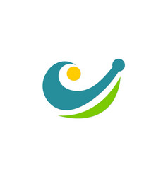 abstract unusual loop logo vector image