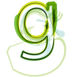 Green letter G vector image vector image