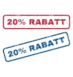 20 Percent Rabatt Rubber Stamps vector