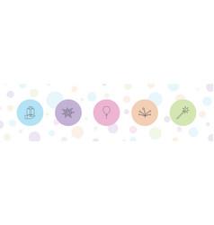 5 anniversary icons vector