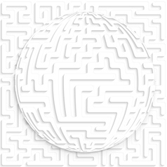Abstract globe with maze on maze background with vector