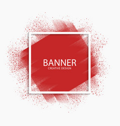 Abstract red paint stroke modern banner vector