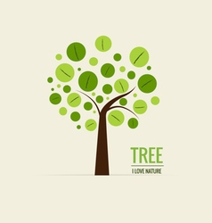Abstract tree Ecology concept with tree background vector