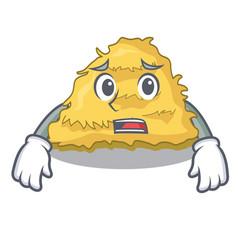Afraid hay bale mascot cartoon vector