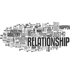 After adultery text word cloud concept vector
