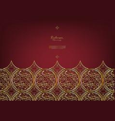 Arabesque thai element elegant classic gold vector