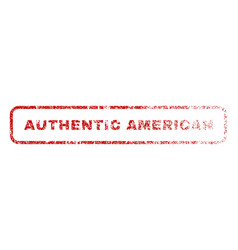 Authentic american rubber stamp vector