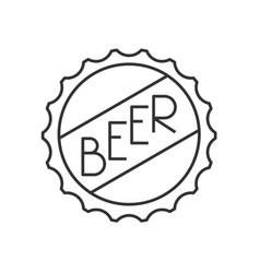 Beer cap icon vector