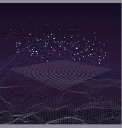 Big data stream futuristic infographic vector
