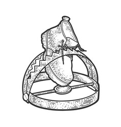 boot in a trap sketch vector image
