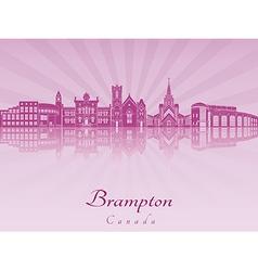 Brampton skyline in purple radiant orchid vector