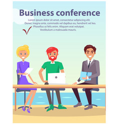 Business conference at seaside vector
