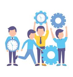 Business people gears vector