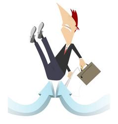 businessman arrow sins concept vector image