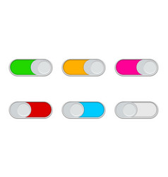 buttons enable and switch off toggles ui vector image