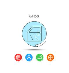 Car door icon automobile lock sign vector
