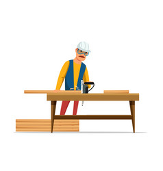Carpenter flat vector