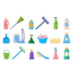 cleaning supplie sett tools for cleaning vector image