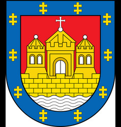 Coat of arms of klaipeda county in lithuania vector