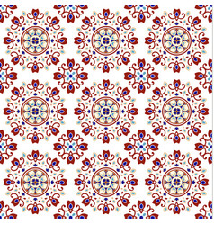colorful ceramic tile pattern vector image