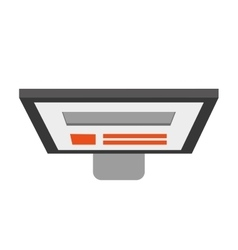 computer monitor topview icon vector image