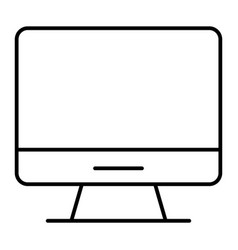 computer thin line icon desktop vector image