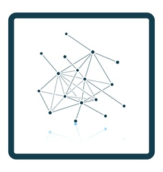Connection net icon vector