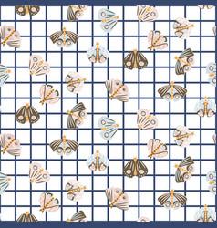 cute moth seamless pattern vector image