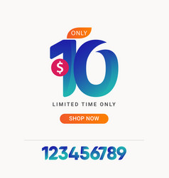 Discount 10 only limited time only shop now vector