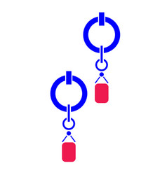 Earrings flat vector
