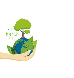 earth day on white background vector image