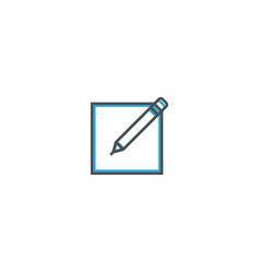 edit icon design essential icon vector image