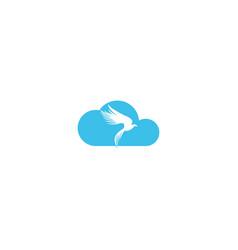 falcon cloud logo design vector image