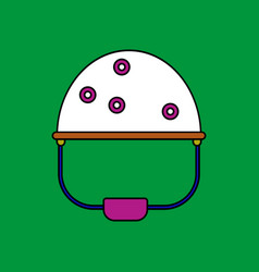 Flat icon design collection helmet with bullet vector