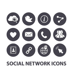 Flat Social network icons set vector