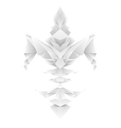 fleur de lys in origami gradients vector image