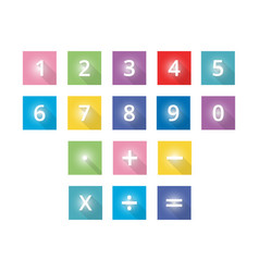 Free-numbers-and-mathematical-flat-icons vector